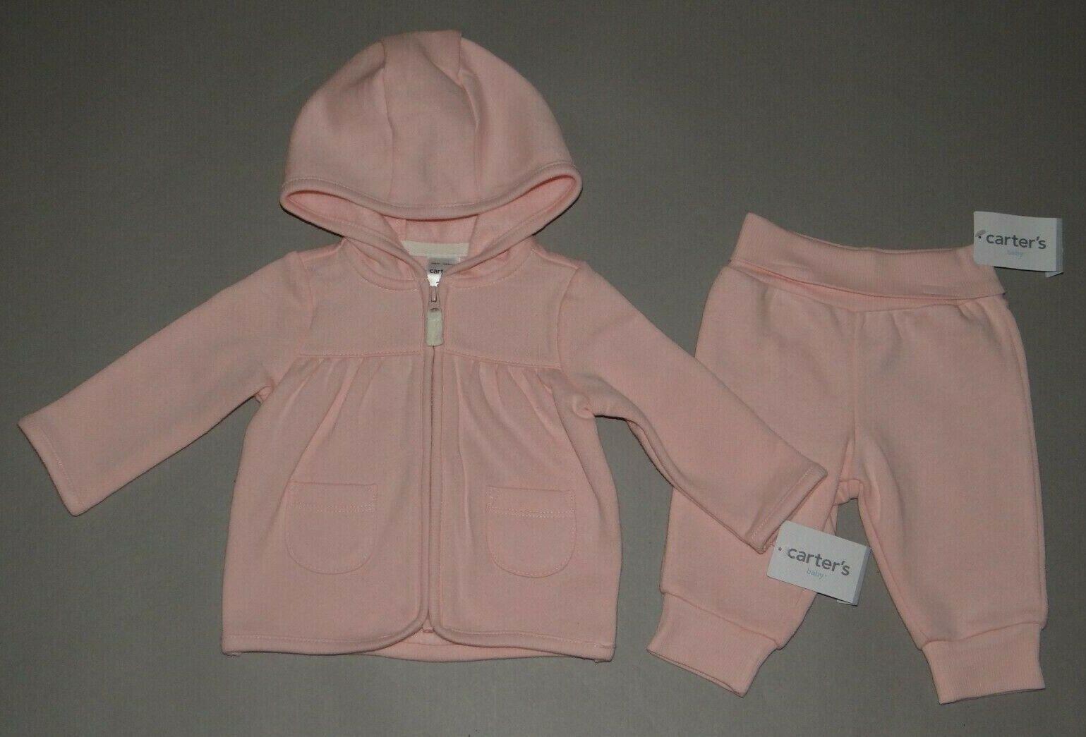 NWT, Baby girl clothes, Newborn, Carter's 2 piece fleece set