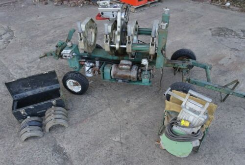 Mcelroy Rolling 28 Poly pipe fusion machine W/ facer & heater 2-8in w inserts