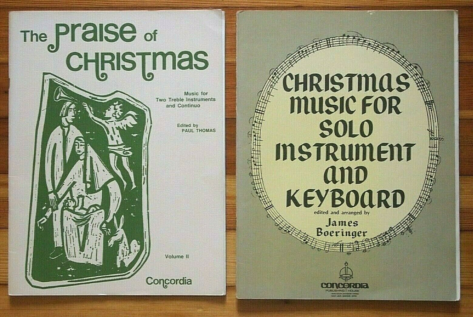 CHRISTMAS Music For Solo Instrument s Keyboard/Continuo / PRAISE OF--- PARTS - $10.00