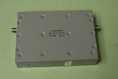 Spectrum Fsy Microwave 1747.5 Mhz Rf Band Reject Filter