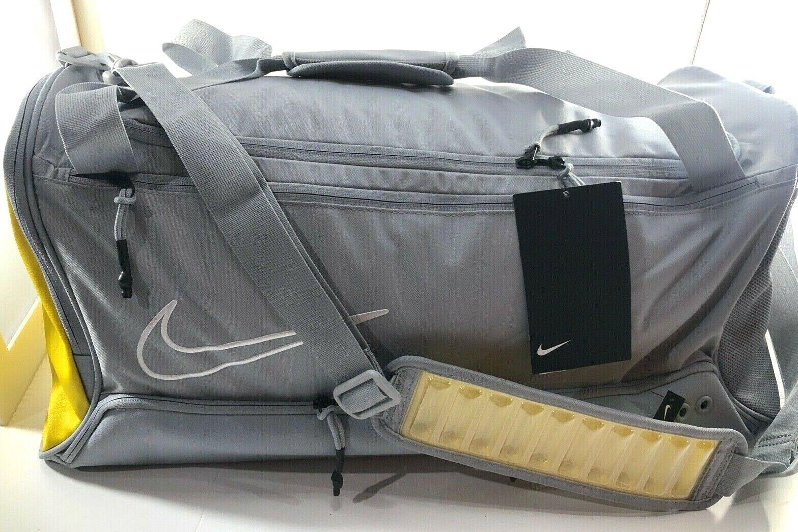 Nike Elite Basketball Duffle Gym Bag BA6163-012 Cool Grey Yellow Air Max