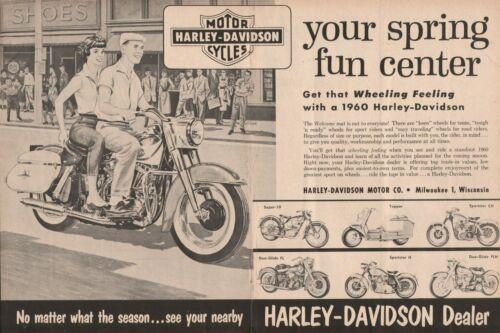 1960 Harley-Davidson - 2-Page Vintage Motorcycle Ad