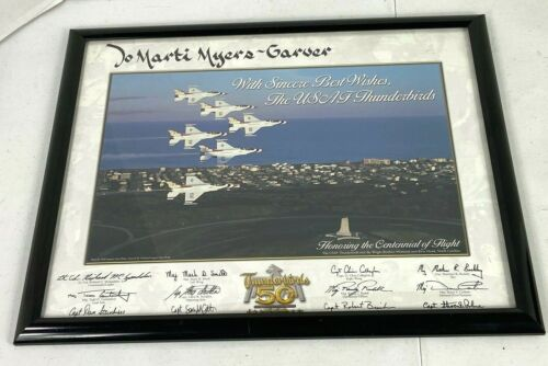 2003 US Air Force Thunderbirds 50th Anniversary Framed Team Litho