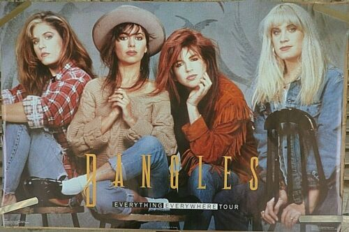 RARE THE BANGLES EVERYTHING EVERYWHERE TOUR 1989 VINTAGE ORIG MUSIC PROMO POSTER