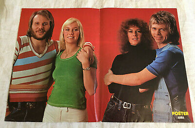 ABBA 1974 Lemming - Swedish Poster Magazine 1970s Very Rare Vintage, used for sale  Shipping to Canada