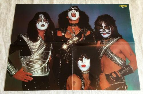 KISS 1978 Love Gun - Sweden Swedish Poster Magazine 1970s Rare Vintage