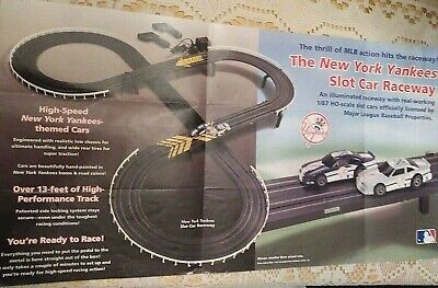 NY Yankees Collectible HO Slot Car Electric Raceway *RARE!! Not Sold in (Raceway Stores)