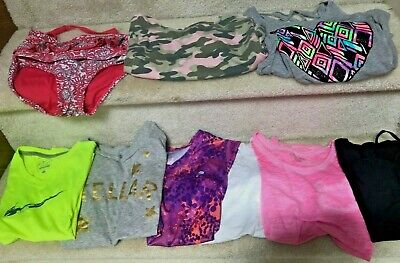 Lot Of 9 - Girls Clothes Size 10/12 - Childrens Place,Justice,Nike,Abercrombie K