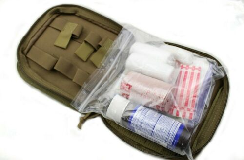 Medical IFAK Individual First Aid Kit US Military Type Coyote - w/ Supplies