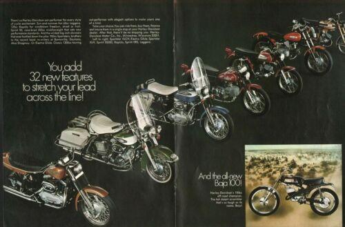 1970 Harley-Davidson Motorcycles - Vintage 4-Page Motorcycle Ad