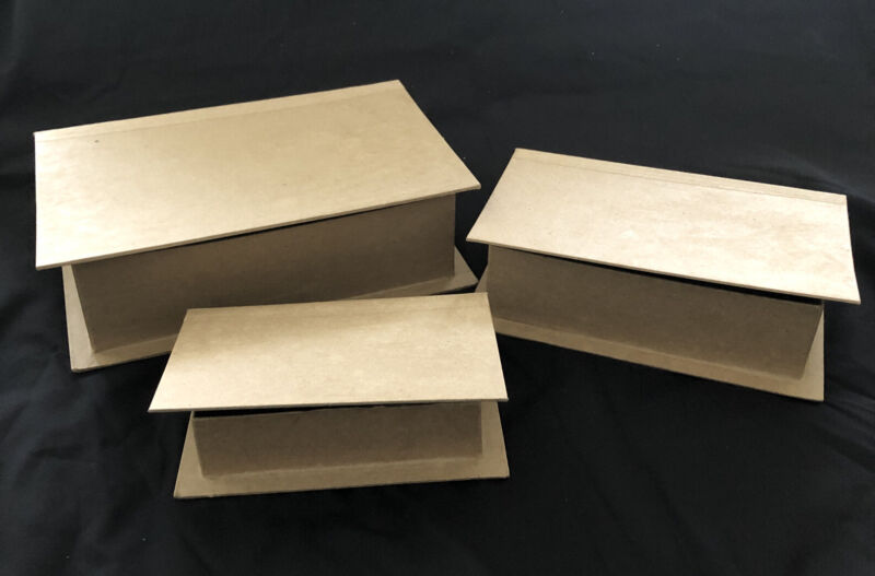 Lot Of Paper Mache Book Boxes Paper Crafting Large Medium Small 10 each
