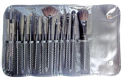Trousse De Maquillage Professionnel 12 Pinceaux De Qualite Manche Long Bois