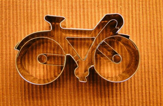 Ausstecher Ausstechform Ausstechformen Fahrrad Rennrad  Edelstahl  8  cm Neu