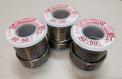 3 POUNDS - Canfield 50/50 solder FREE SHIPP stained glass wire roll lead and tin