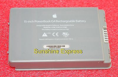 "Apple PowerBook G4 15"" (Aluminum) Battery A1148 825-7341-A 661-2927"