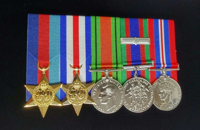 WW2 Canadian Medal Group France&Germany, Courtmounted