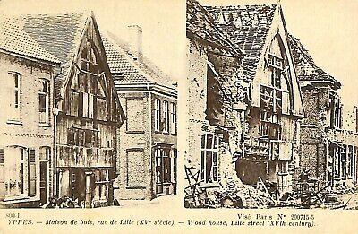 CPA - Belgique - Ieper - Ypres - Maison de bois, rue de Lille