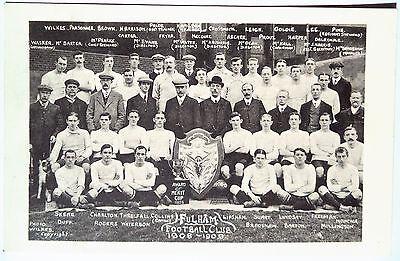 FULHAM F.C. 1908-09 – ORIGINAL VINTAGE FOOTBALL POSTCARD