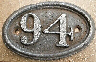 Antique - Vintage - Genuine & Original -Cast Iron- House Door No 94 FREE UK POST