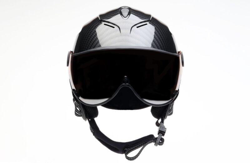 Icaro Nerv Helmet Carbon & Grey Visor - Paragliding, Hang Gliding, Speedriding