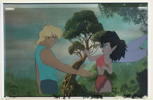 Ferngully Production cels featuring Crysta and Zak (1992)