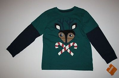NEW Gymboree Boys Reindeer Candy Cane Tee Top Shirt 3T NWT North Pole Party