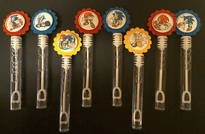 8 SONIC THE HEDGEHOG bubble wands birthday party favor