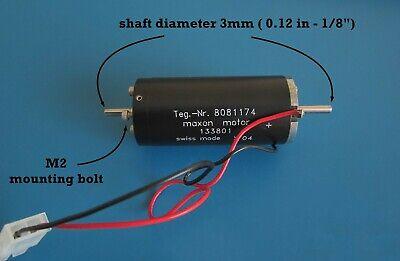 Maxon Re25 Dc Brush Motor 20w 24v Swiss Made 3mm Double Shaft Coreless Brushed