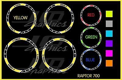 Yamaha Raptor 700R Rims Decals Stickers