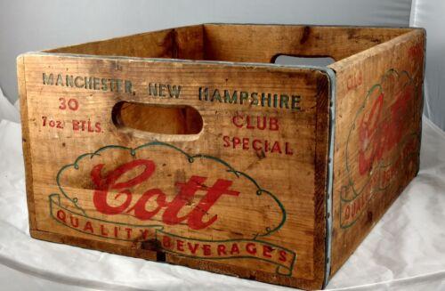 Vintage Wooden COTTS Beverage Crate.