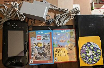 Nintendo Wii U 32GB Console 3 Games Mario Maker Splatoon LEGO City