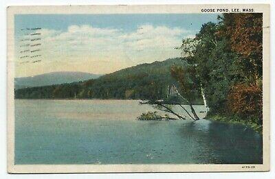 MA ~ Lower Goose Pond Scene LEE Massachusetts 1939 Berkshire County (Lee Massachusetts)