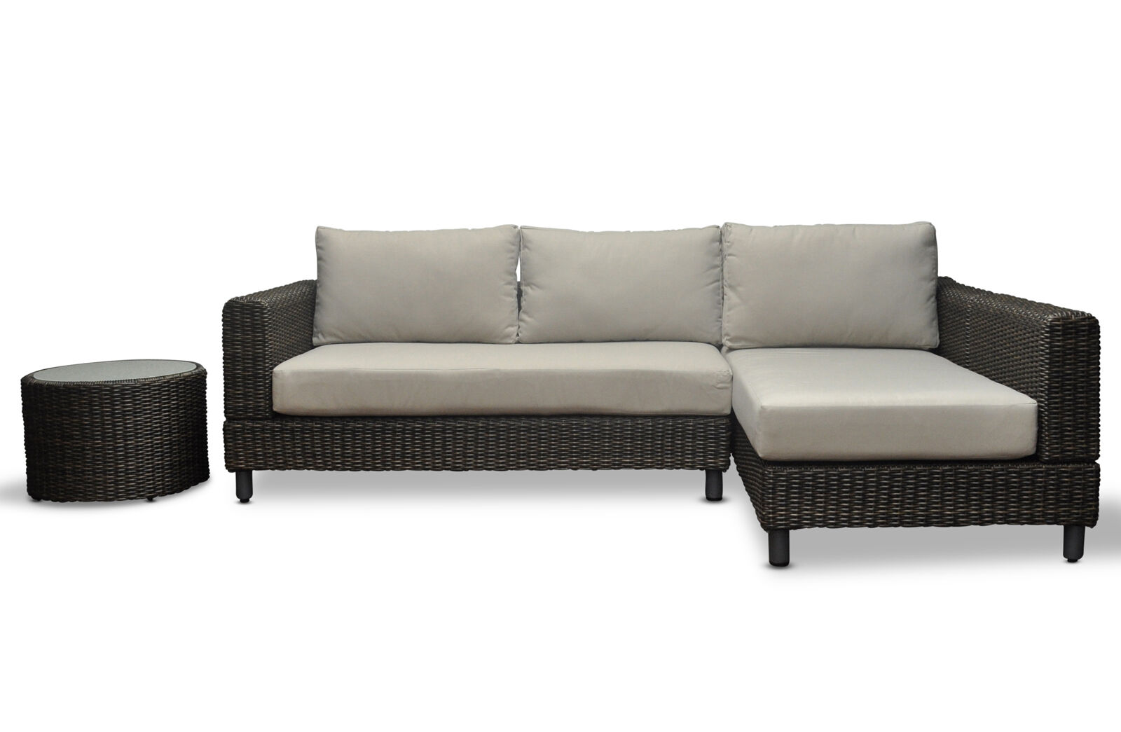 Modular wicker outdoor corner sofa chaise sun lounge for Chaise corner sofa