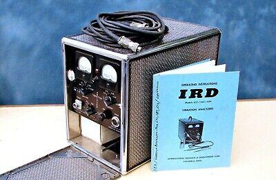 Ird International Research Development Vibration Analyzer No. 652 Wmanual