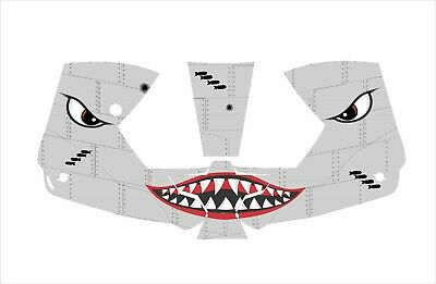 0700000800 Esab Sentinel A50 Welding Helmet Wrap Decal Sticker Shark Moutth Grey
