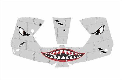 0700000800 Esab Sentinel A50 Welding Helmet Wrap Decal Sticker Shark Moutth Grey