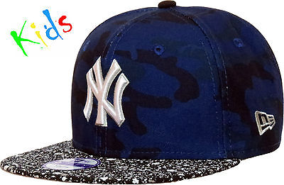 New Era 950 Kids NY Camo Speckle Snapback Cap (Ages 5 - 10)