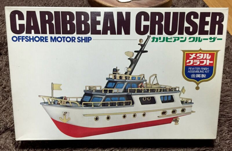 CARIBBEAN CRUISER METAL & PLASTIC MODEL KIT  WAGNER JAPAN BOAT