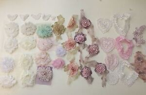 Flower trims & lace - scrapbooking craft sewing etc Geebung Brisbane North East Preview