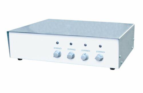 Four Place Magnetic Stirrer, 4x1000ml, 100-2000 RPM, 110V