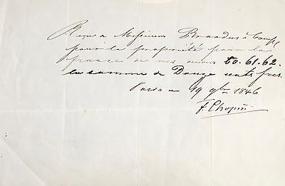 Frederic CHOPIN (Composer): Signed Copyright Agreement for Piano Works Op. 60-62