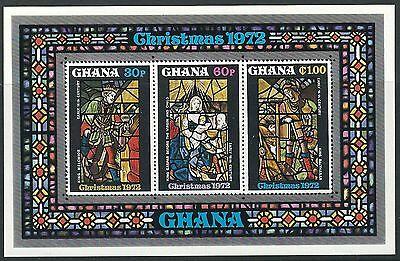 Ghana - Gemälde und Kirchenfenster Block 48 postfrisch 1972 Mi.Nr. 489-491