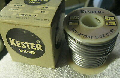 Kester 44 Resin 1 Lb Spool Stearine Solder 4060 Alloy .125 Dia 66 Core-usa Nib
