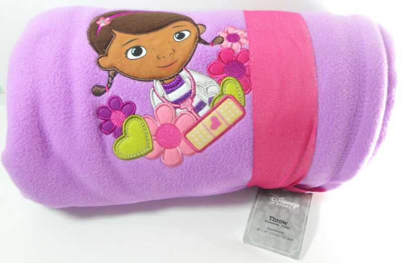 Disney Store Doc McStuffins Blanket Throw 60 x 50 Lavender NEW