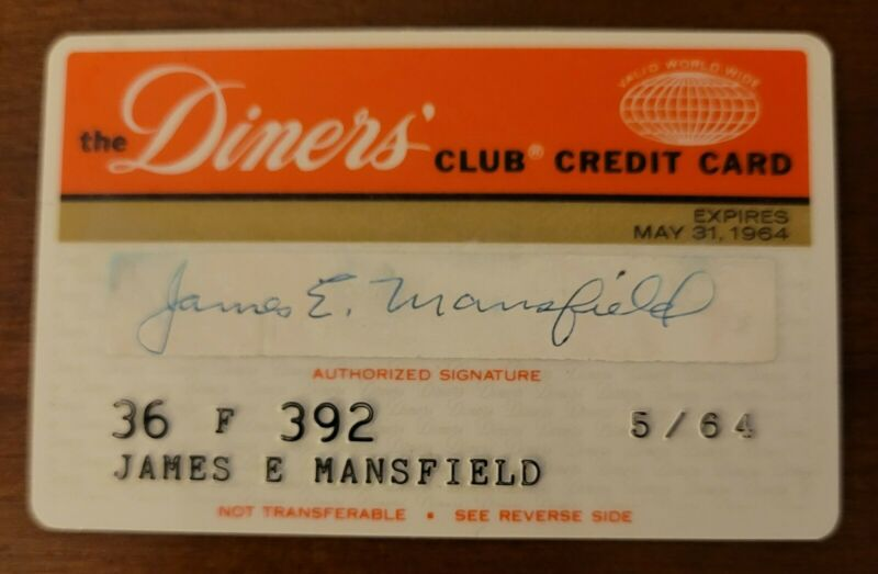 Vintage 1963 Diners Club CHARGE Credit Card