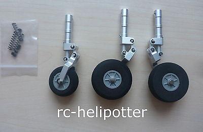 Scale 3 Bein Fahrwerkset Einziehfahrwerk Alu gefedert Rc Flugzeug Jet Fahrwerk
