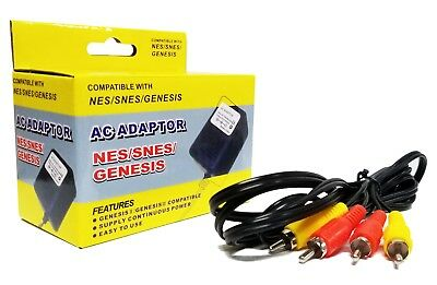 Nes Original Nes Hookup Connection Kit Ac Adapter Power Cord   Av Cable