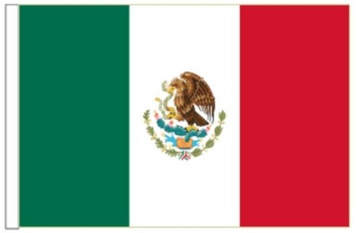 Mexico Sleeved Courtesy Flag ideal for Boats 45cm x 30cm