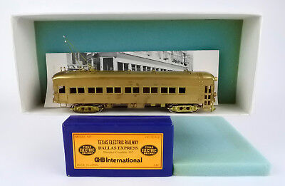 GHB HO SCALE #107 BRASS TEXAS ELECTRIC RAILWAY DALLAS EXPRESS POWERED COMBINE