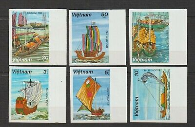1983 Vietnam Stamps Sampans Collection Sc # 1248-1253 Impert MNH